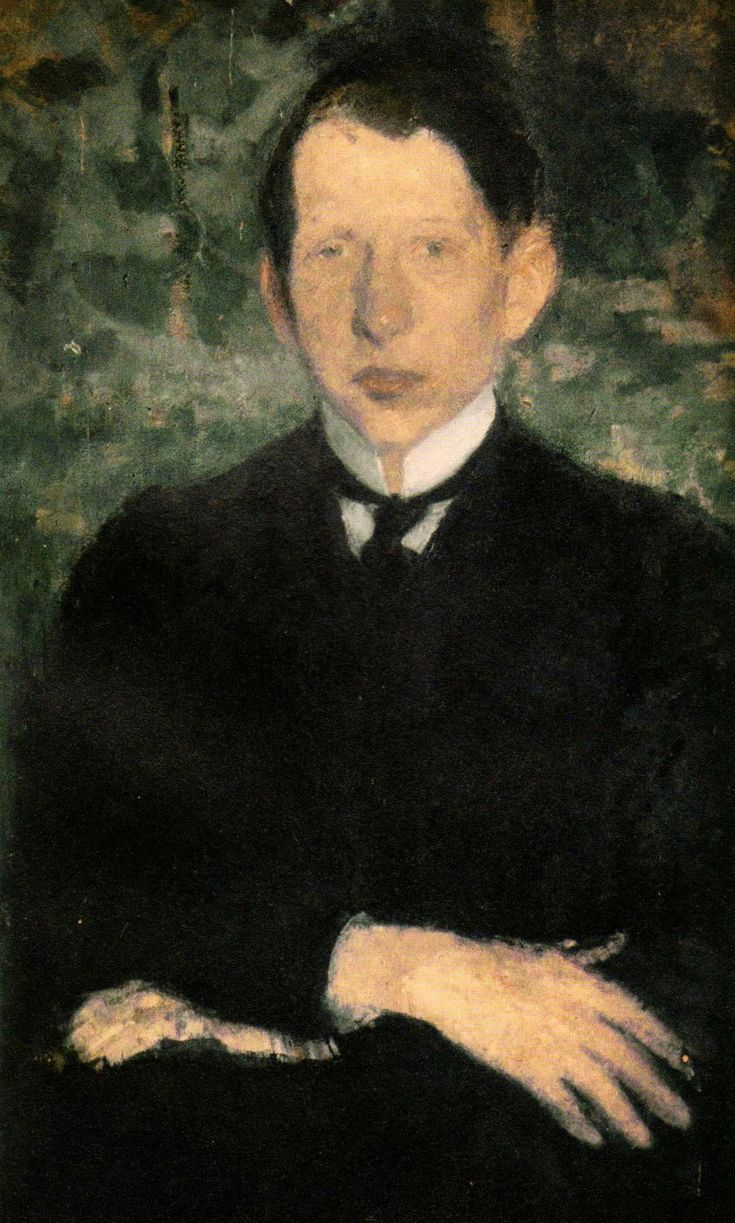 Portrait of Georges Danysz , c.1900 by Olga Boznańska (Polish, 1865-1940)