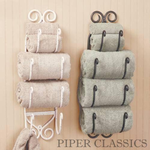 iron bath towel holder - black | powder, towels and towel storage