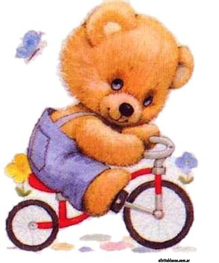 Картинки для детей медведь на велосипеде