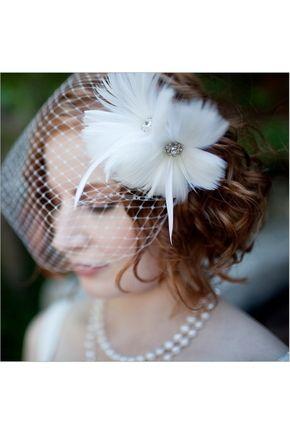 Véus de Noiva Vestido Véus gaiola De uma camada Véu de gota