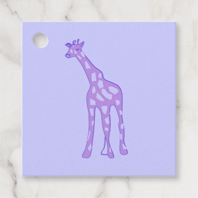 Purple Giraffe Favor Tags Zazzle Com Favor Tags Giraffe Purple