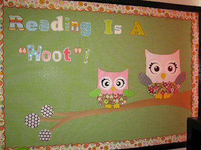 Writing clips. Cute Reading bulletin board idea with CTP's Dots on Turquoise letters and Floral Fun border!
