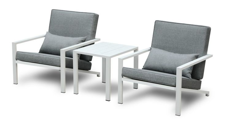 lot 2 fauteuils table basse aluminium blanc teapa 2 mobiliermoss 299euros