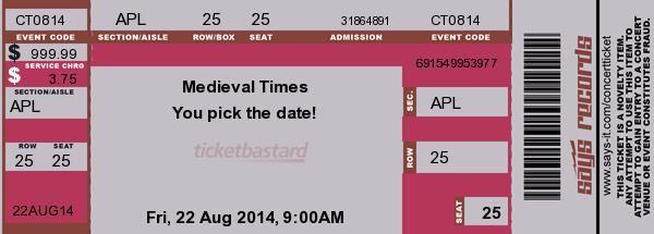 Concert Ticket Maker