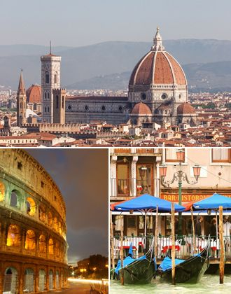 Three of our favorite Italian cities <3 #rome #florence #venice