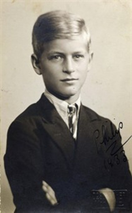 A young Prince Phillip of Greece, eventually the husband of Elizabeth II and Duke of Edinburgh