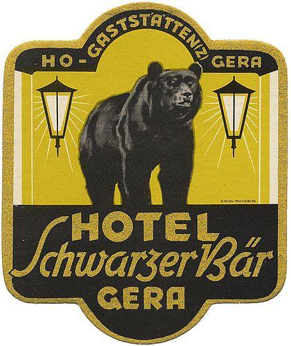 Hotel Schwarzer Bär  ~ Gera ~ Germany