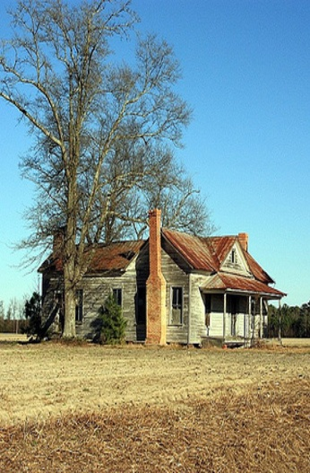 Old Farm House, Rustic Abandonment - Another beauty... Love the Rust colored Roof...
