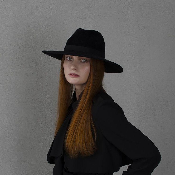 fotralehats.com фото photo hats lookbook Black wide-brim fedora hat / Шляпа федора черного цвета