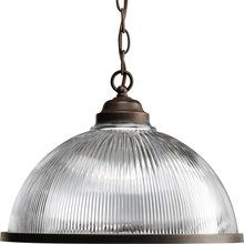 View the Progress Lighting P5103 Prismatic Glass Domes Series Single-Light Chain-Hung Pendant with Prismatic Glass Shade and Metal Trim Ring at LightingDirect.com.