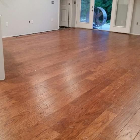 "Elm Amaretto 9/16 x 6-1/2"" Hand Scraped Engineered Hardwood Flooring"