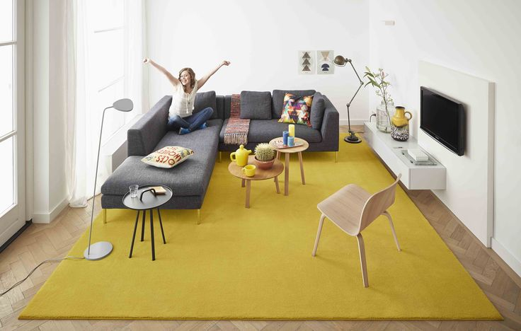 Happy yellow. Desso Home tapijt