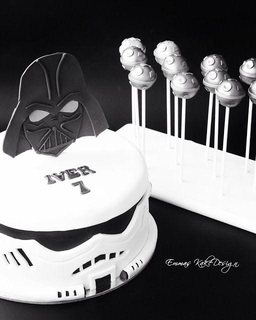 Emmas KakeDesign: -STAR WARS- Birthday cake and cakepops! www.emmaskakedesign.blogspot.com