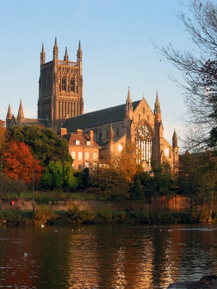 Worcester Cathedral from across the River Severn