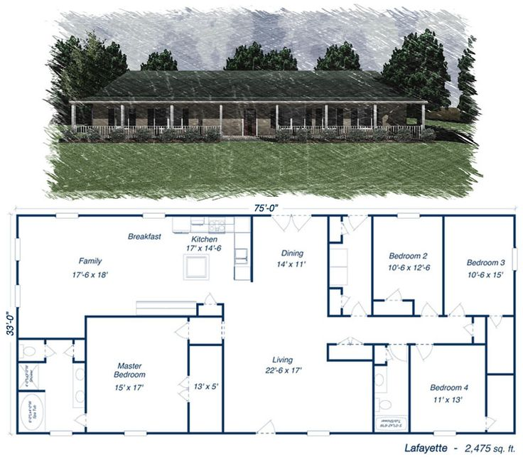 Click to toggle the Lafayette floor plan!