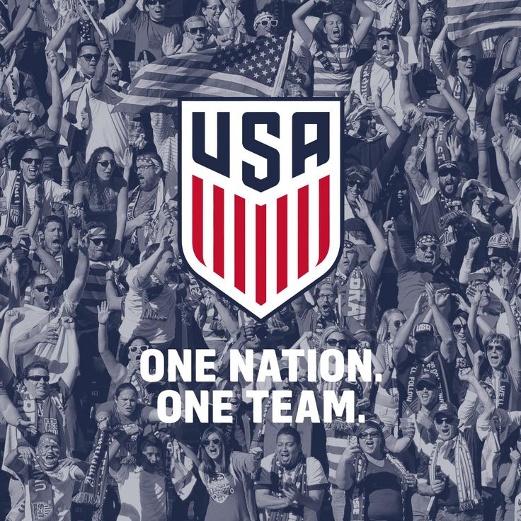 US Soccer new crest. One nation. One team.