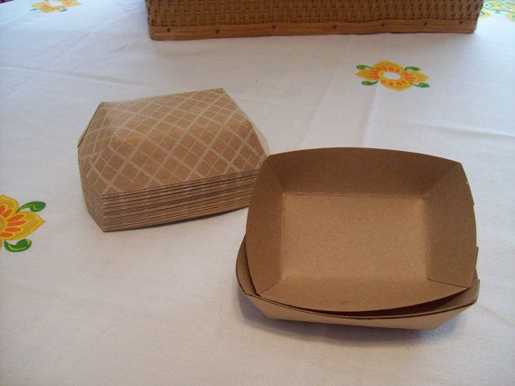 Paper Food Trays 25 Medium Kraft Food Trays 8 by alittlegathering
