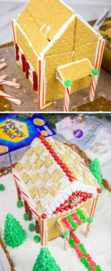 Whether it's a tradition to make a Christmas scene every year, or this is your first time tackling this holiday classic with your kids, this HONEY MAID Graham Cracker House is the perfect festive activity for your family. Simply grab graham crackers, an assortment of green and red colored candies—like Sour Patch Kids— and plenty of icing—all of which can be found at Walmart—to get started creating your own winter showstopper!