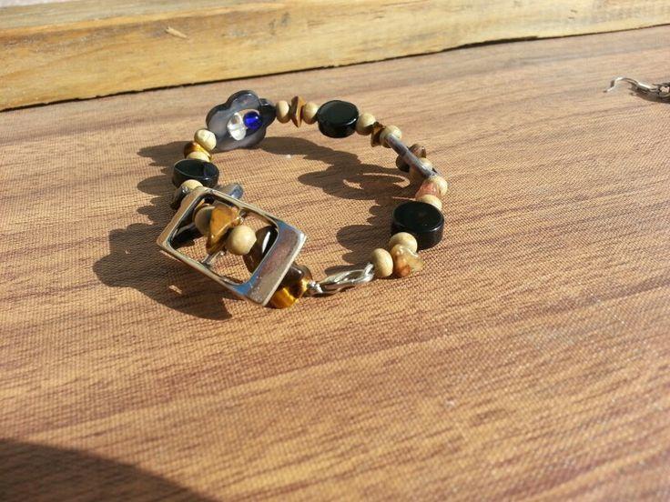 Recycled buckle bracelet