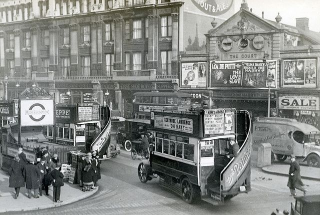 Tottenham Court Road, 1927  #RePin by AT Social Media Marketing - Pinterest Marketing Specialists ATSocialMedia.co.uk