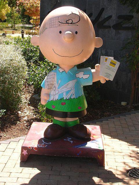 Charlie Brown at Charles Schulz Museum, Santa Rosa, California by Curtis Cronn, via Flickr