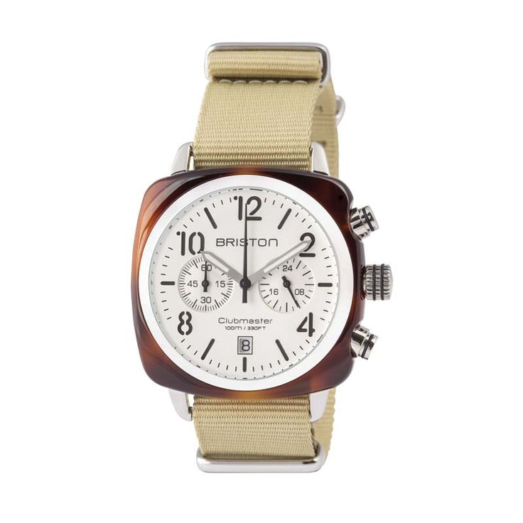 #THANKSDAD: OUR TOP 10 COOLIST FOR FATHER'S DAY - BRISTON Clubmaster white chronograph watch