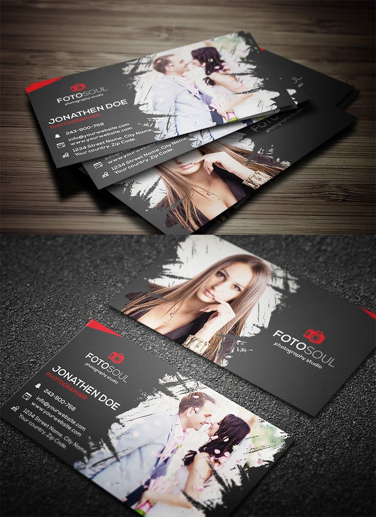40 Photography Business Card Templates Inspiration Carte
