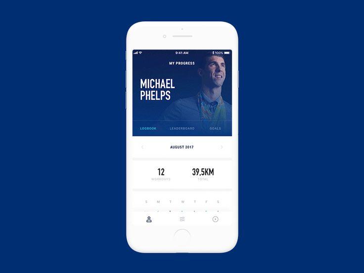 Swimming Tracker App Concept — Tom Vranek