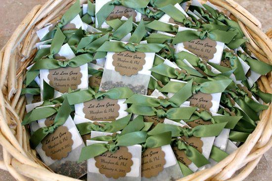Umweltfreundliche Hochzeit || Blumensamen