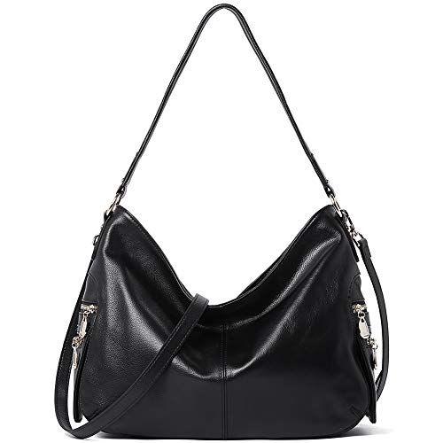 c37e574644e7 New BOSTANTEN Women Hobo Handbags Genuine Soft Leather Tote Shoulder ...