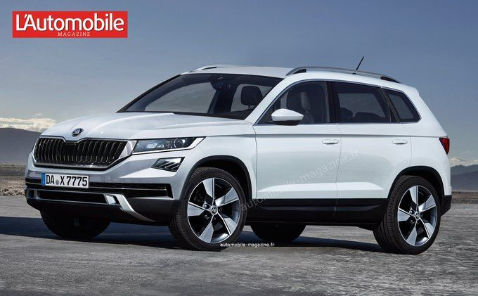 Future Skoda Yeti Grand @LAutomobileMag