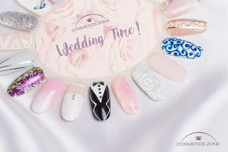 Ślubny Manicure nie tylko w bieli! Sprawdź i daj się zaskoczyć! #manicure #wedding #weddingtime #weddingnails ##nails #paznokcie #paznokcieślubne