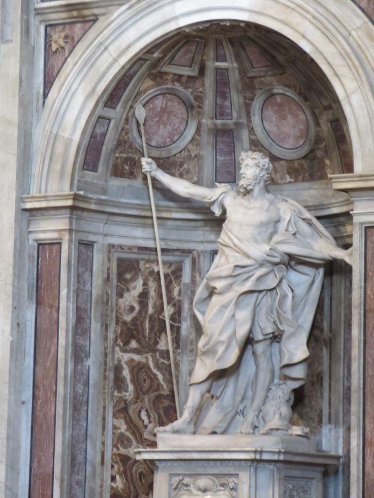 Statue of Longinus in St. Peter's