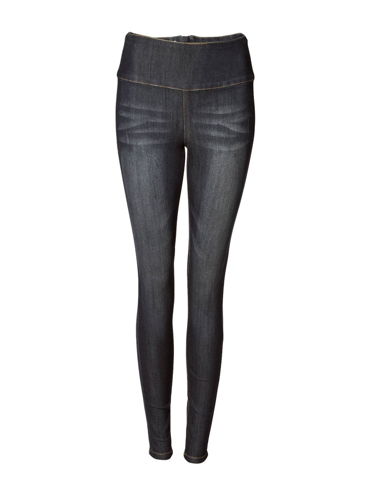 Pieces - FUNKY HIGHWAIST LEGGINGS/DARK DENIM 11