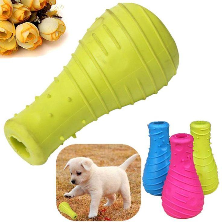 Оптовая продажа высокое качество многоцветный резина домашних собак щенок игрушки бутылки типа режутся зубы здоровые зубы фонарика-уайт чу играть