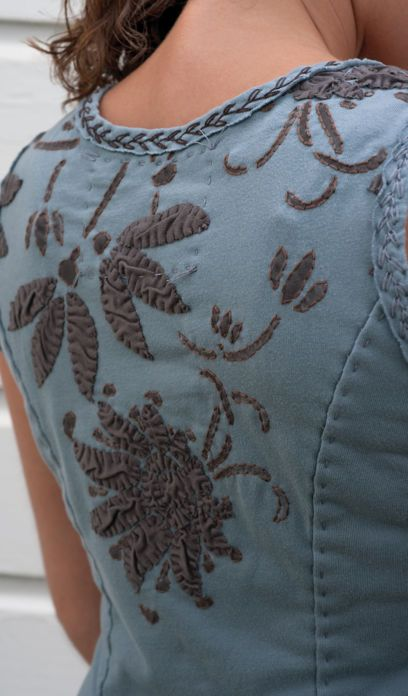 Alabama Chanin DIY applique tank dress. Their studio is in Florence, AL, they offer workshops, kits. Great website!