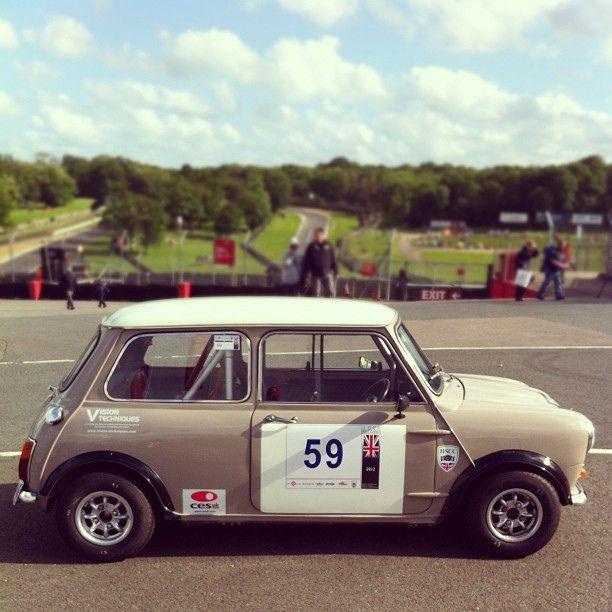 Historic Sports Car Club MkI Mini Cooper at Brands Hatch Mini Festival, June 2012. by Dr Rubberfunk, via Flickr