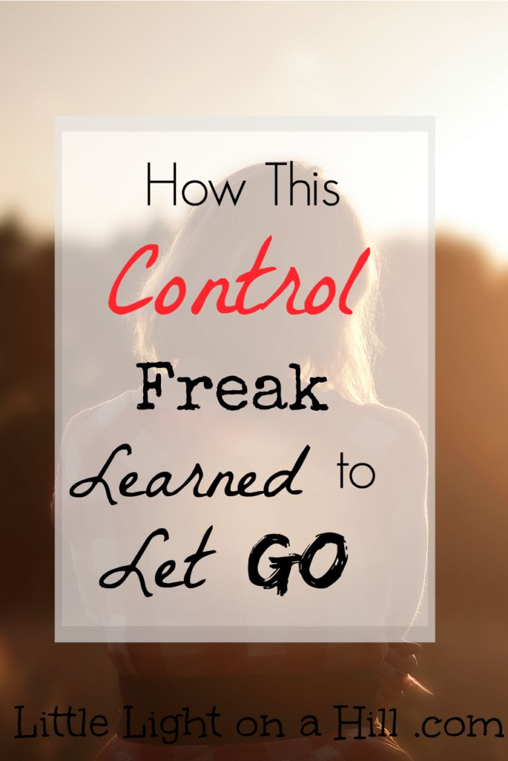 If you're anything like me, giving up control is hard to do. But I've learned to let go and give God complete control. Here is why...