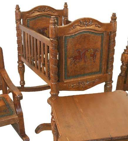 Western Baby Cradle western-baby-nursery