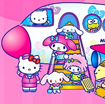 Hello Kitty Happy-Flight New chitose Airport Hokkaido JAPAN
