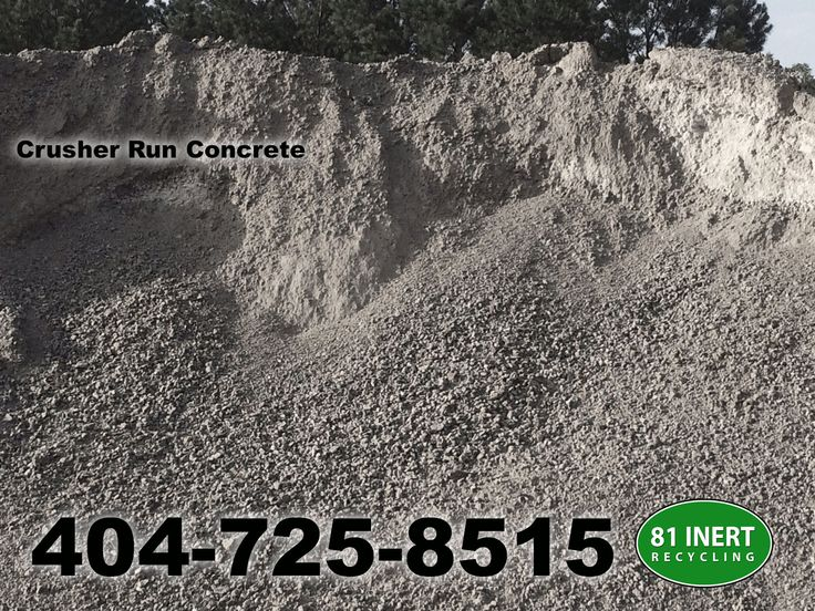 Crusher run concrete lasts longer.  For a delivery quote in Loganville, Gwinnett County, Walton County, call 404-725-8515 or visit 81inertrecycling.com
