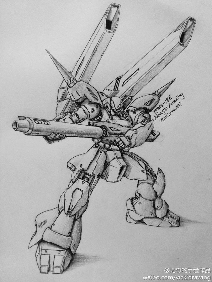 GUNDAM GUY: Awesome Gundam Sketches by VickiDrawing [Updated 6/20/15]