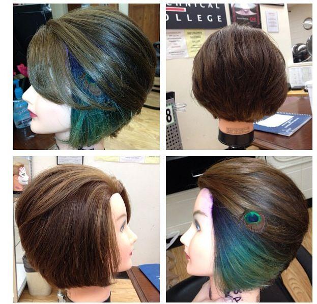 Peekaboo Peacock Hair Color