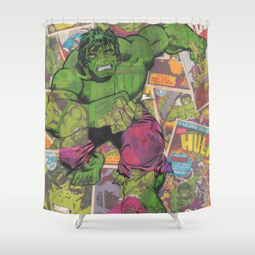 Hulk Comic Shower Curtain