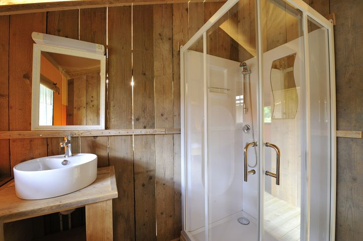 With a luxurious shower room, this isn't your average camping experience!