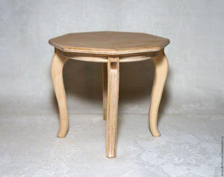 Купить Стол для куклы восьмиугольный - стол, кукольный стол, стол для куклы, кукольная мебель