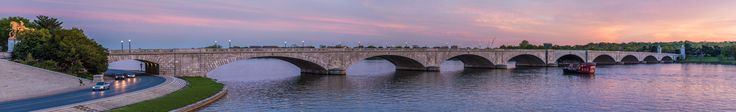 A DC Sunset on the Potomac River (Panorama)