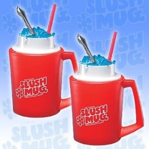 Keep Slush Mugs in freezer until you're ready, then pour in drinks and watch as they thicken into icy full-bodied slush in minutes! Your drink's flavor stays strong and undiluted since no ice is used!