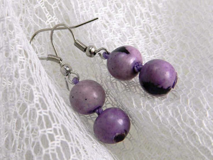 Açai seeds earrings