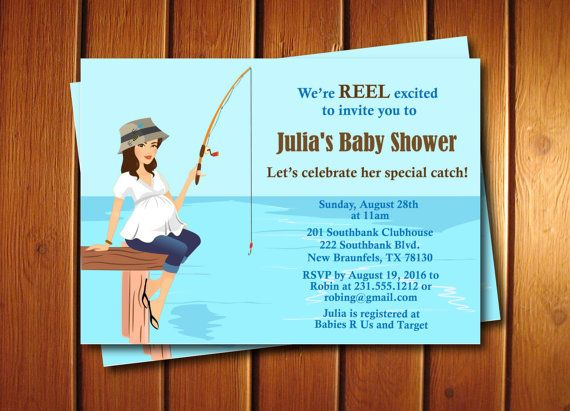 Fishing baby shower invitation by announceitfavors on etsy for Fishing baby shower invitations